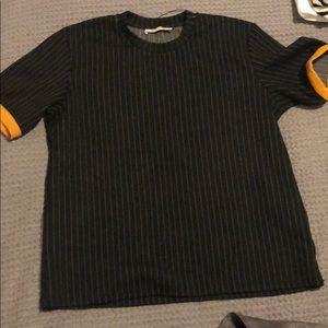 Short sleeve striped Zara top